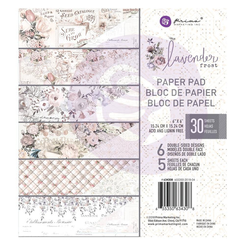 Lavender Frost - Prima Marketing Double-Sided Paper Pad 6