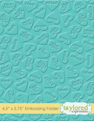 Embossing Folder - Conversation Hearts
