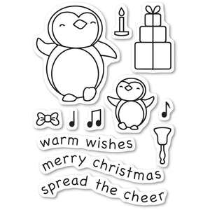 Penguin Cheer clear stamp set