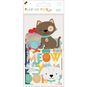 DCWV PLAYFUL PETS CATS Ephemera Die Cuts