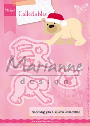 Marianne Design: Collectables Die Set - Eline's Polar bear - Christmas
