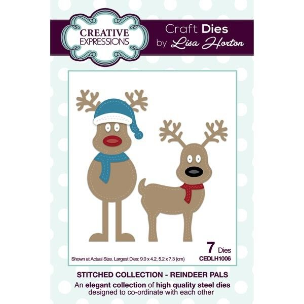 Creative Expressions Die Stitched Collection - Reindeer Pals