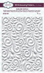 Creative Expressions 3D Embossing Folder 5 3/4 x 7 1/2 Sublime Swirls