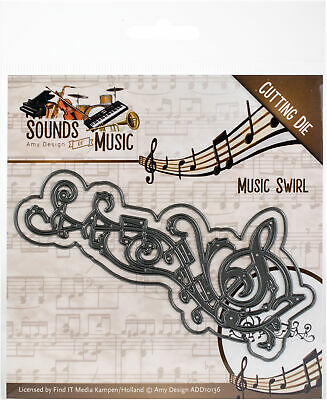 AMY DESIGN SOUNDS OF MUSIC CUTTING DIE - MUSIC SWIRL