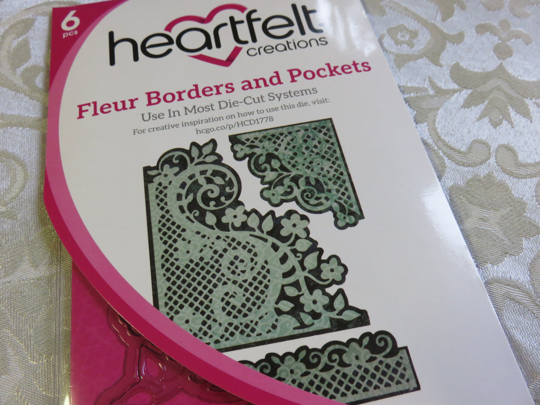 Fleur Borders and Pockets Die