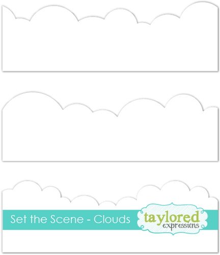 set the scene - clouds stencil strips