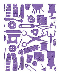 Embossing Folders - Sew Sew Sew - Who What Wear Collection
