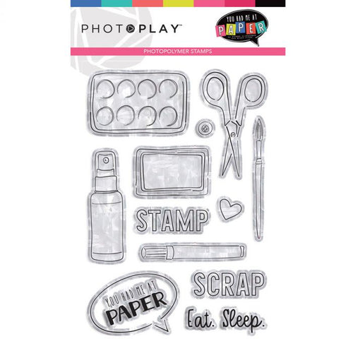 PhotoPlay YOU HAD ME AT PAPER Clear Stamps