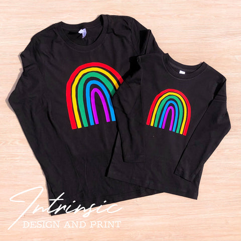 Rainbow long sleeve tees - Womens