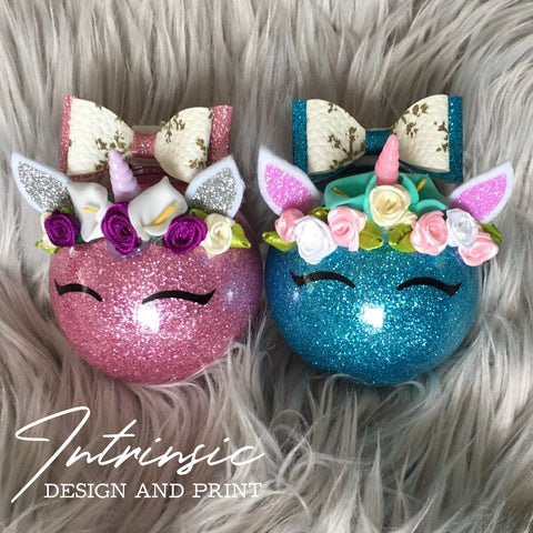 Unicorn Christmas Baubles