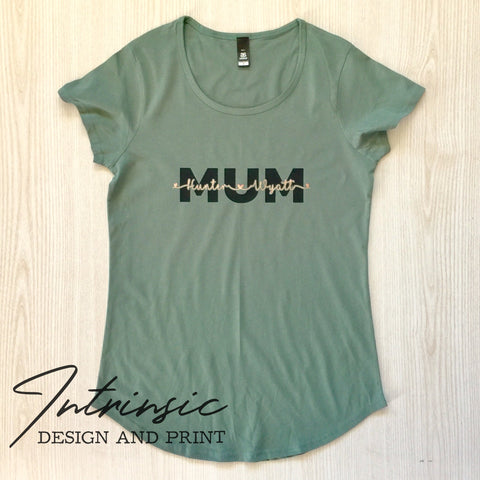 MUM name tee's - Short sleeve