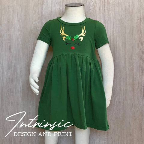 Mistletoe Reindeer dress