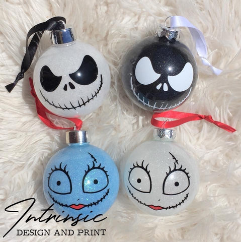 Jack and Sally baubles