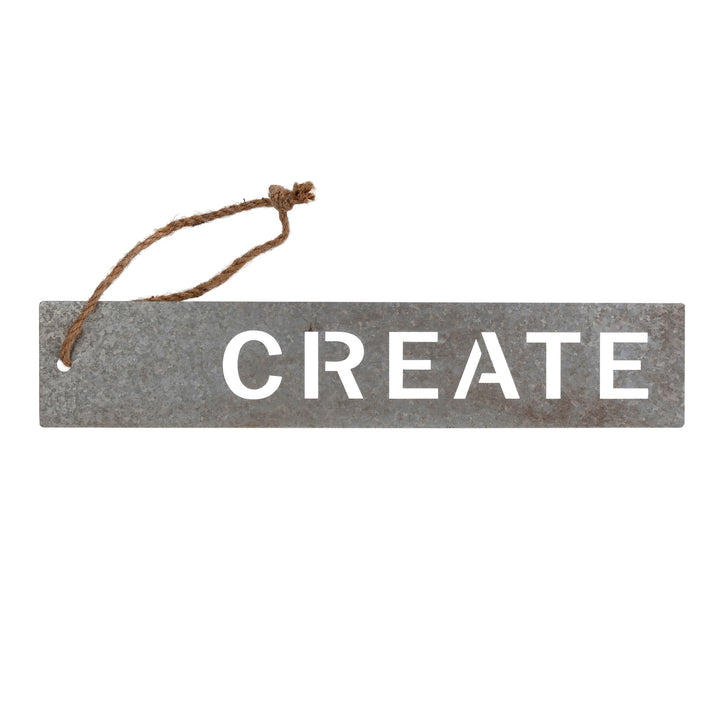 CREATE Metal Hanging Sign