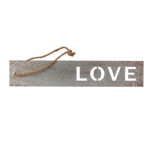 LOVE Metal Hanging Sign