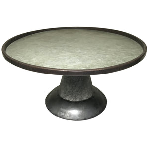 Galvenized Tin Tray on Stand