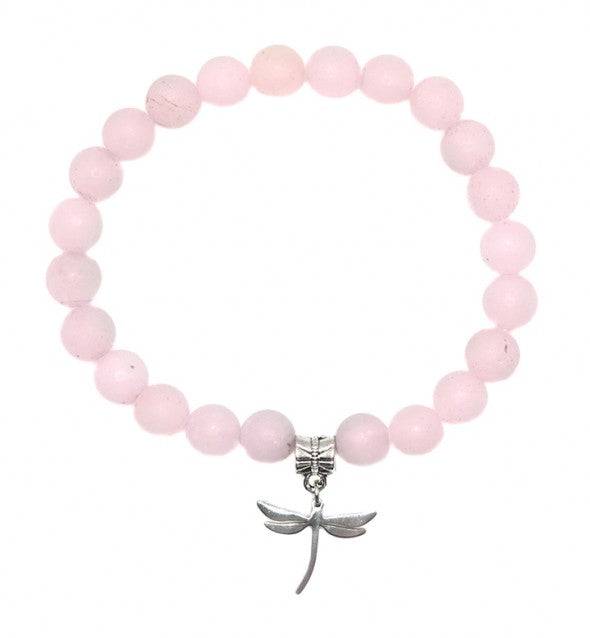 Rose Quartz Dragonfly Bracelet