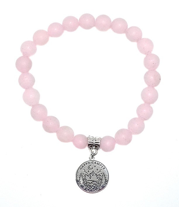 Rose Quartz Happy Camper Bracelet