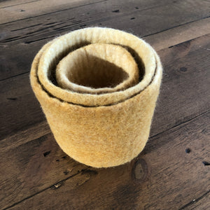 Felted Nesting Vase Set