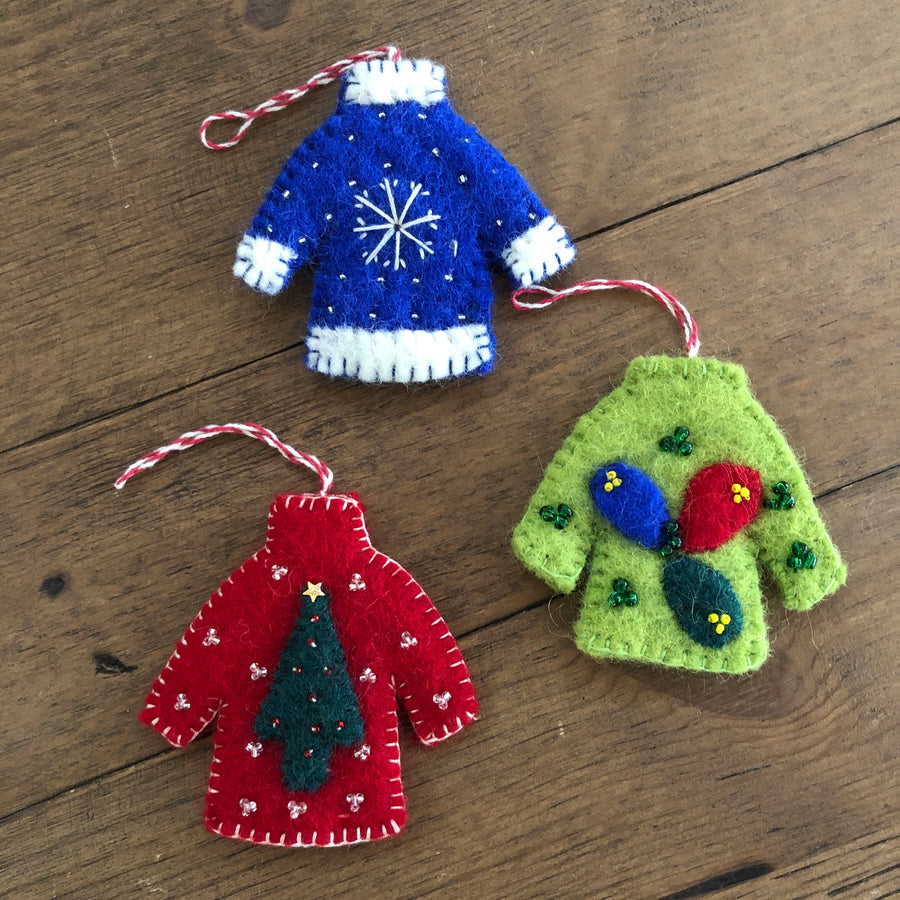 Felted Sweater Ornament