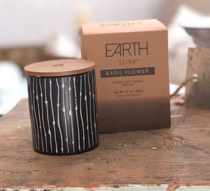Earth Luxe Scented Ceramic Candle Jar