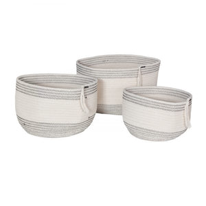 Rope Woven Basket Round (Set of 3)