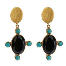 Load image into Gallery viewer, PHILIAS BLACK EARRINGS