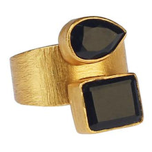 Load image into Gallery viewer, ELIF BLACK ONYX RING