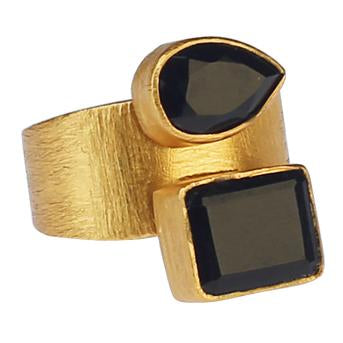 ELIF BLACK ONYX RING