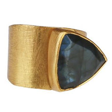 Load image into Gallery viewer, HAVA LABRADORITE RING