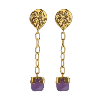 ANCIENT AMETHYST EARRINGS