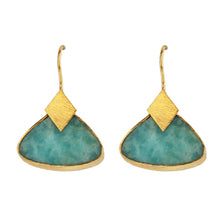 Load image into Gallery viewer, JAISALMER AMAZONITE EARRINGS
