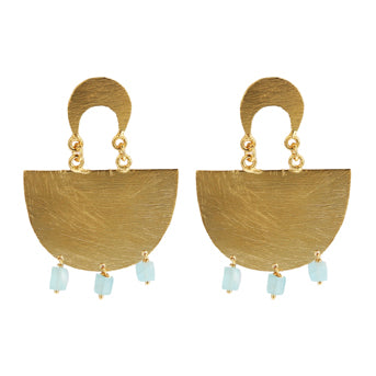OLIMPIA AQUA EARRINGS