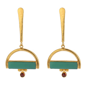 ATHINA CHRYSOPRASE EARRINGS