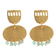 Load image into Gallery viewer, WINDOWS CHRYSOPRASE EARRINGS