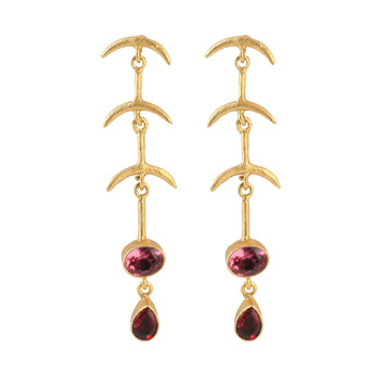 KIRIA GARNET EARRINGS
