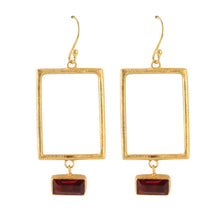 Load image into Gallery viewer, SQUARE TOURMALIE EARRINGS