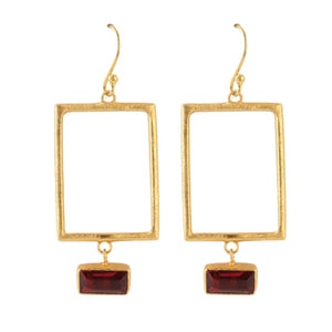 SQUARE TOURMALIE EARRINGS