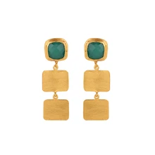 Load image into Gallery viewer, BORNEO GREEN EARRINGS