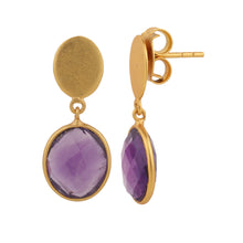 Load image into Gallery viewer, GRAPES AMETHYST EARRINGS