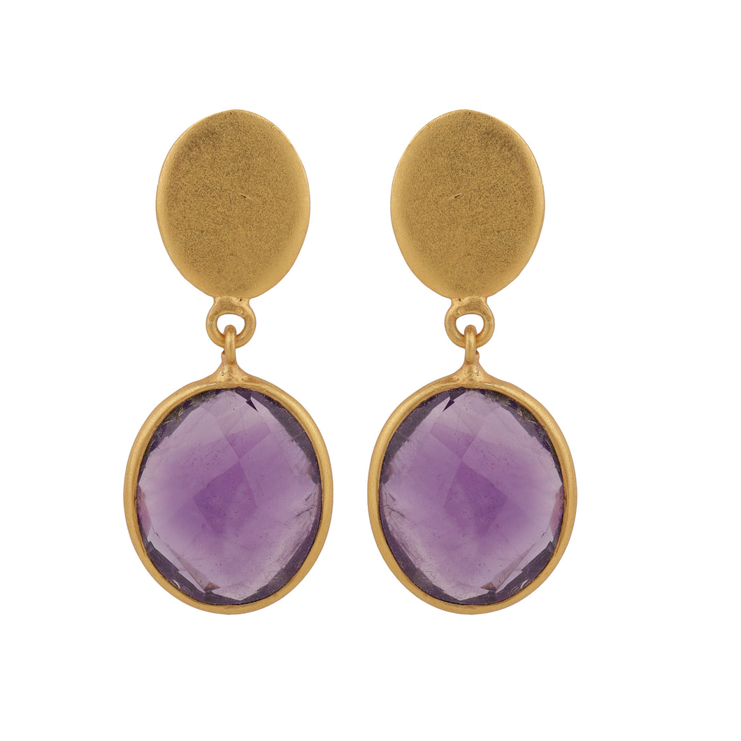 GRAPES AMETHYST EARRINGS
