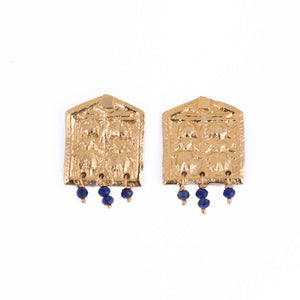 BLUE AMULET EARRINGS