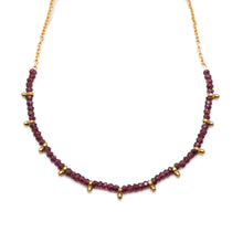 Load image into Gallery viewer, ANKARA GARNET NECKLACE