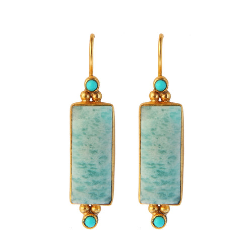 SALONICA AMAZONITE EARRINGS