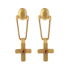 Load image into Gallery viewer, CRETA GARNET EARRINGS