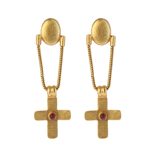 CRETA GARNET EARRINGS