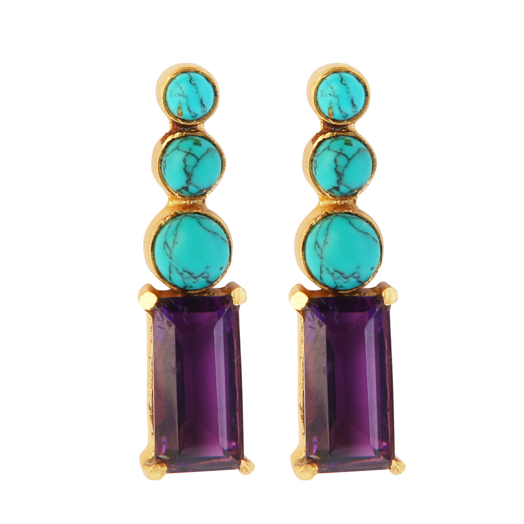 MARMARIS AMETHYST EARRINGS