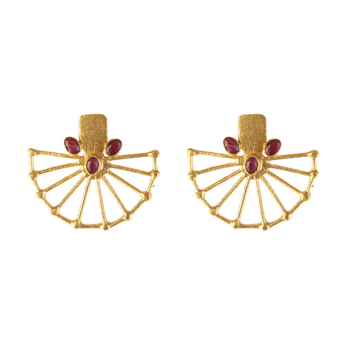 LEBANON RUBY EARRINGS