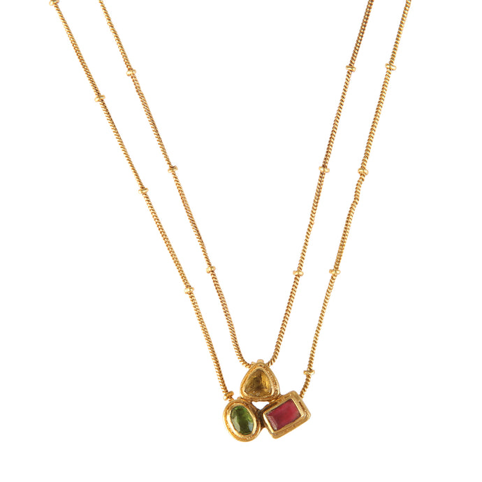 CARTAGO MULTISTONES NECKLACE