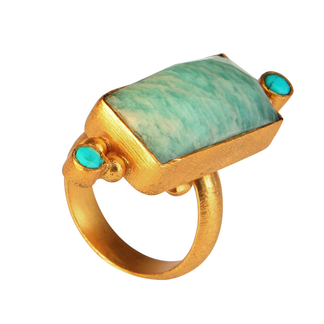 SALONICA AMAZONITE RING